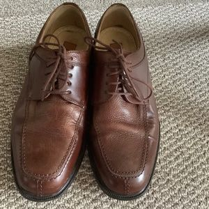MEN'S Florsheim Bronze Leather Shoes Size 8.5